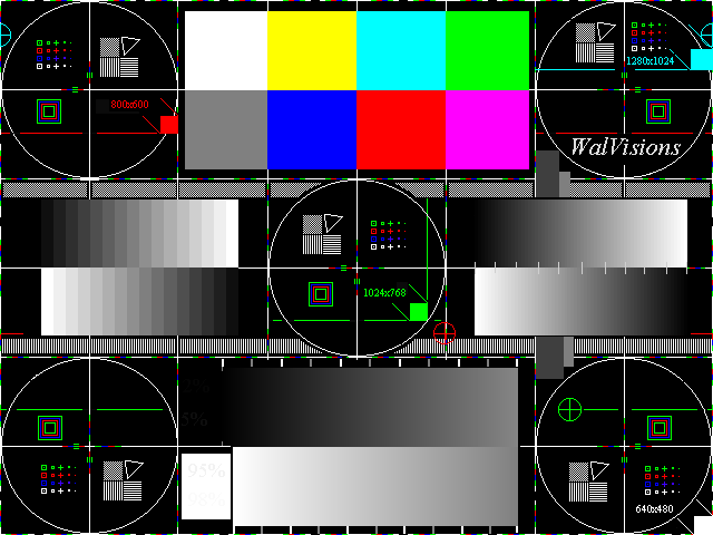 WalVisions Full Field Test Patterns Mesmerizing Test Pattern